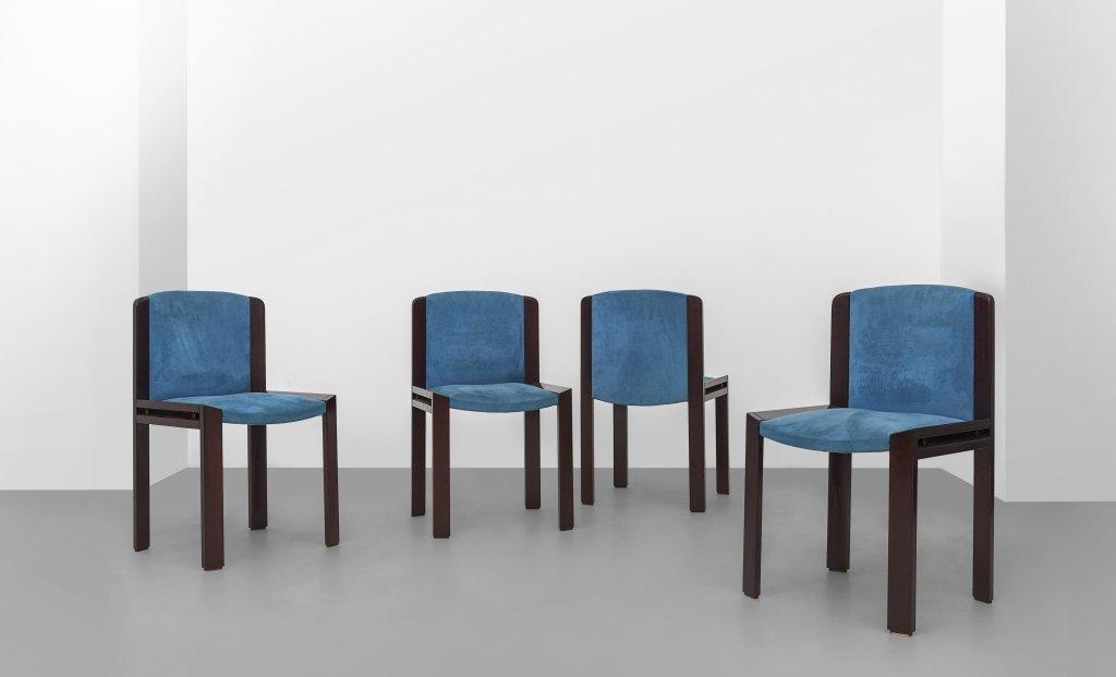 """JOE COLOMBO Quattro sedie """"300"""" per POZZI,"""