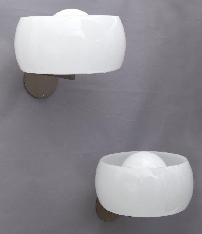"""VICO MAGISTRETTI Due lampade a parete """"Clinio"""""""