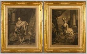 """Maria Antonietta"" e ""Luigi XVI"" coppia di stampe"