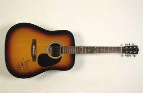 George Jones Autographed Acoustic Guitar