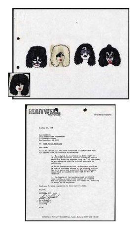 KISS Original Keychain Artwork C. 1978