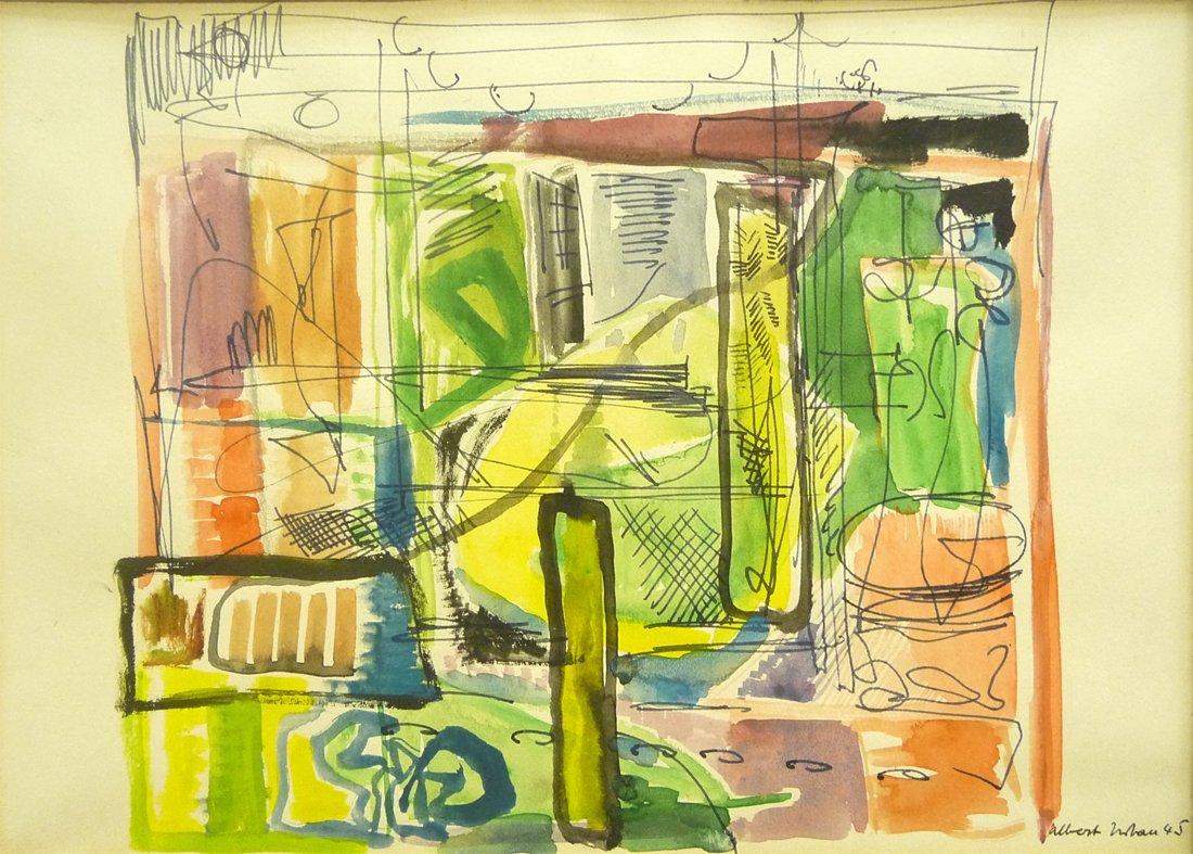 Albert Urban (1909 - 1959) - Signed Watercolor