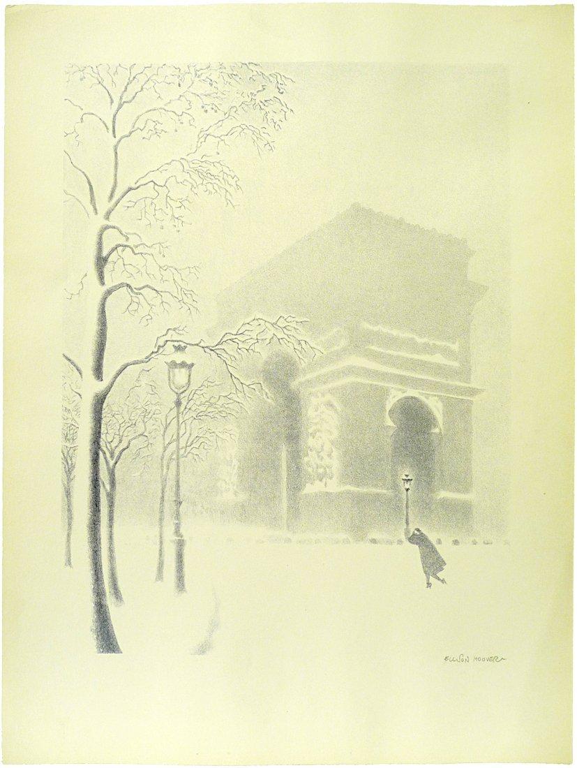 Ellison Hoover - Washington Square Arch - Lithograph