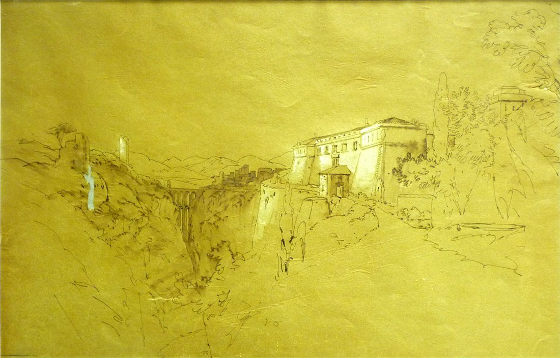 Edward Lear (1812 - 1888) - Sephia Watercolor