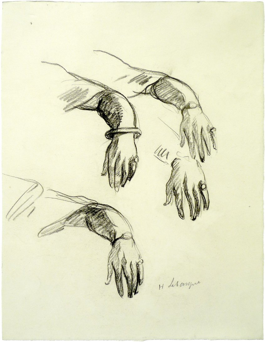 Henri Lebasque (1865 – 1937) - Charcoal on Paper
