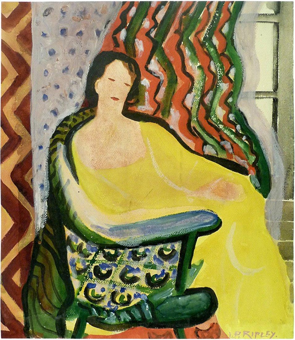 Lucy Perkins Ripley (1874 - 1949) - Watercolor