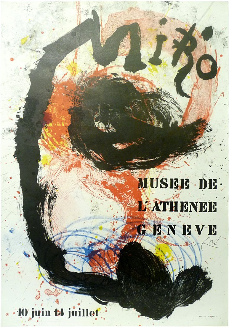 Joan Miró (1893 – 1983) - Signed Poster