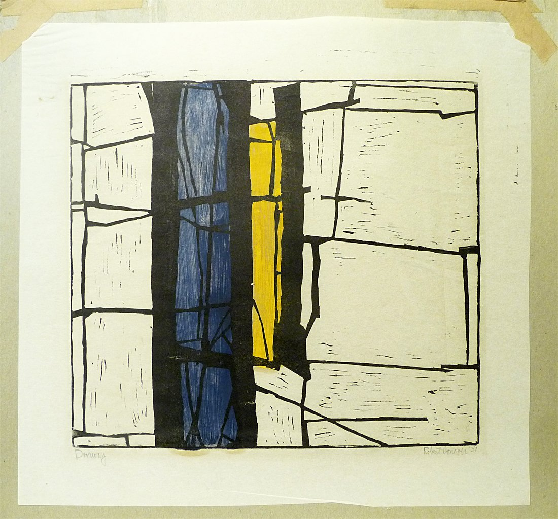 Robert Conover (1920-1998) - Woodblock in Color