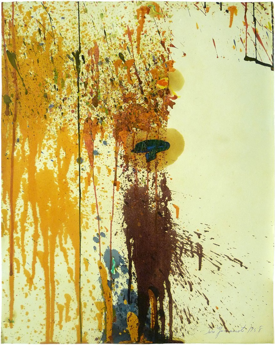 Taro Yamamoto (1919 – 1994) - Oil On Paper - Signed