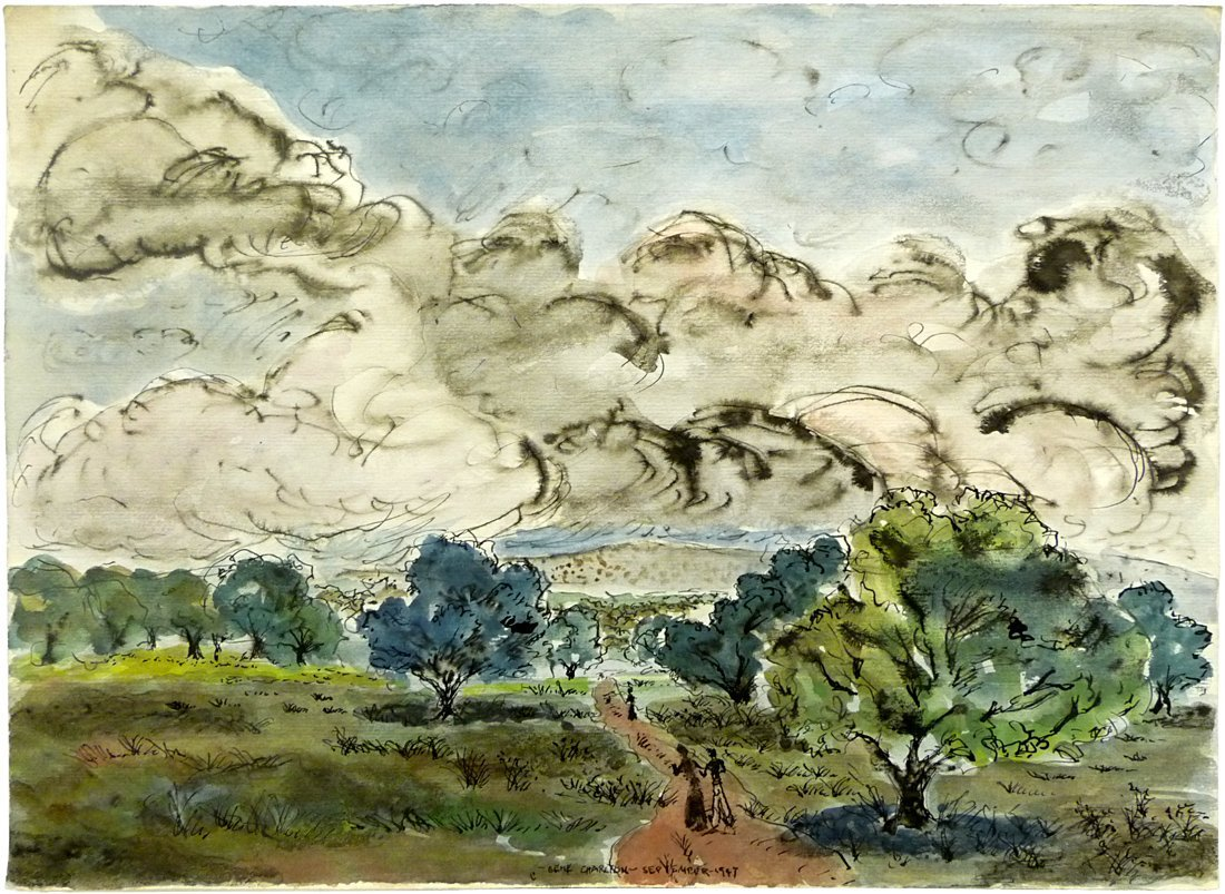 Gene Charlton (1910-1979) - Watercolor