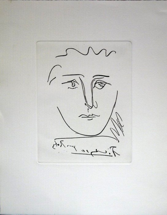 """Pablo Picasso """"Pour Roby"""" Etching"""