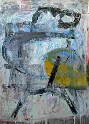 William Wareham - Return to Paris - acrylic and oil