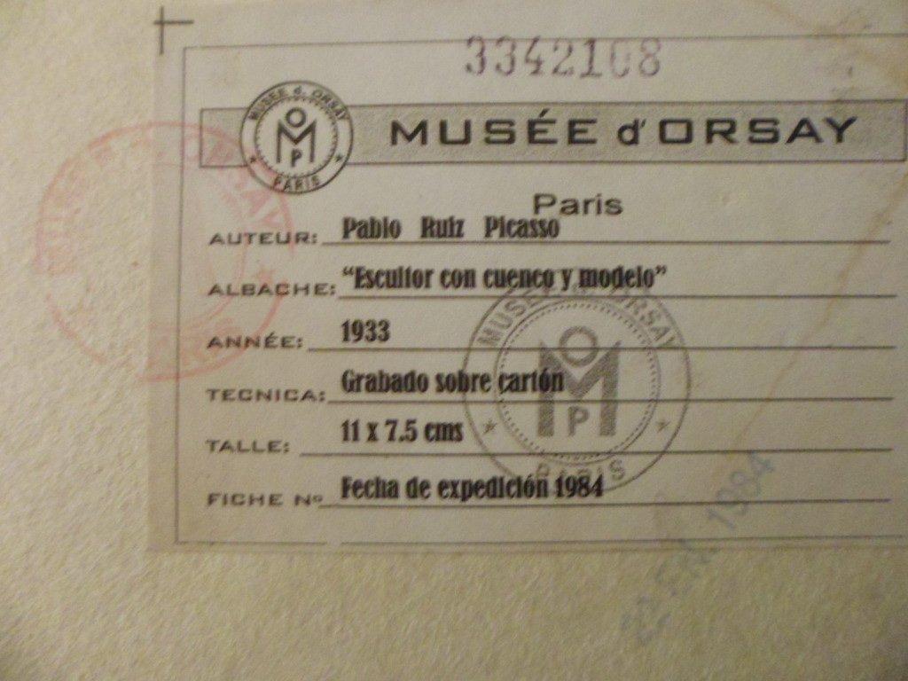 Pablo Picasso - Escultor Con Cuenco y Modelo - 1933 - 4
