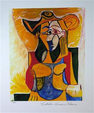 Pablo Picasso - Seated Woman With Hat - No Reserve