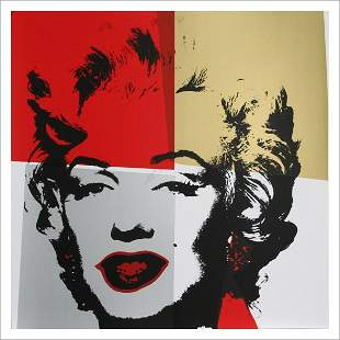 ANDY WARHOL - Marilyn Serigraph Golden 4 - No Reserve