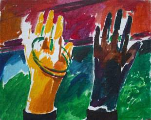 Christopher Brown - Hands - Oil Painting - No Reserve