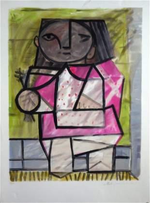Pablo Picasso - Enfant en Pied - Lithograph -No Reserve