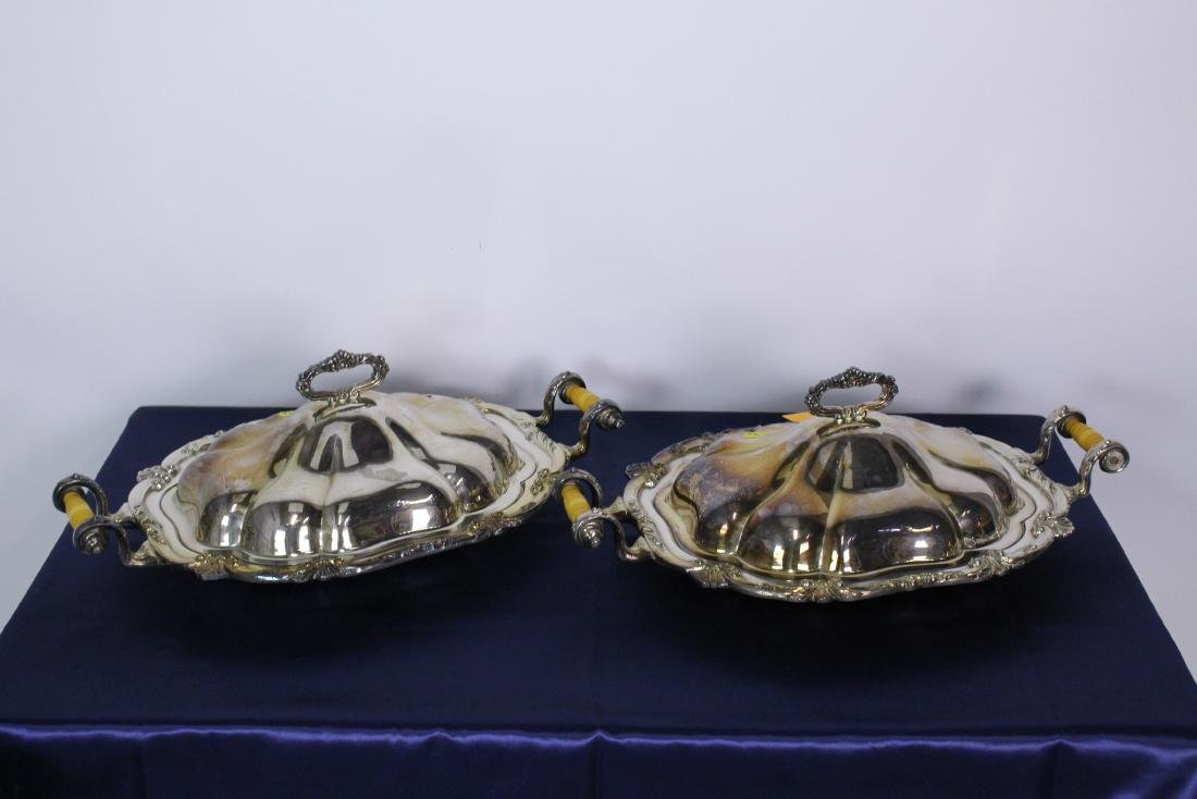 Pair of Silver Plate Casserole Dishes