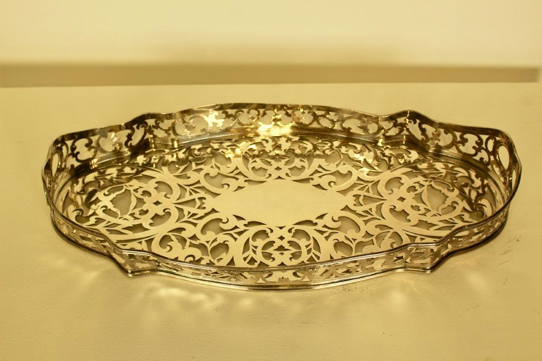 Victorian Silver Plate Cut-out Tray