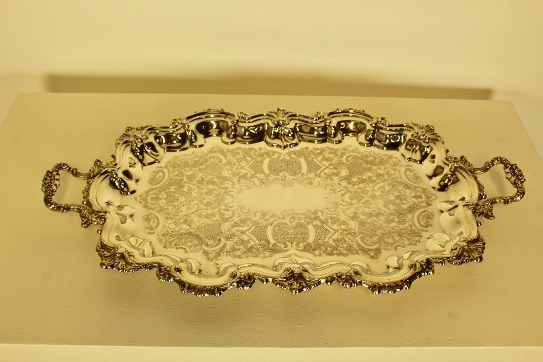 Large Rococo Marlboro Plate Platter