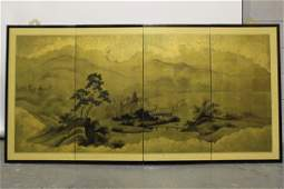 Four Panel Japanese Folding Screen