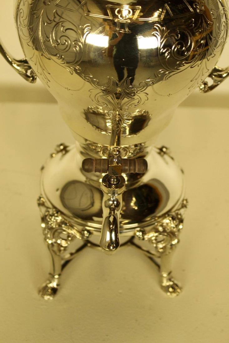 Large & Opulent Decorated Silver Plate Samovar - 2