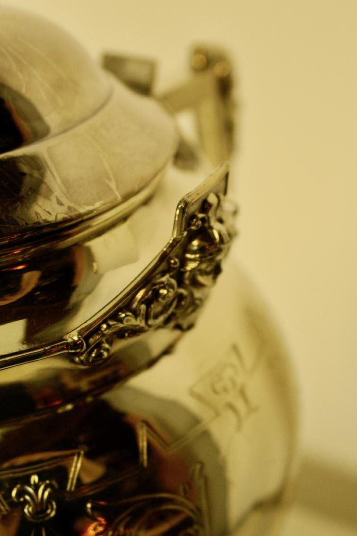 Large & Opulent Decorated Silver Plate Samovar - 5
