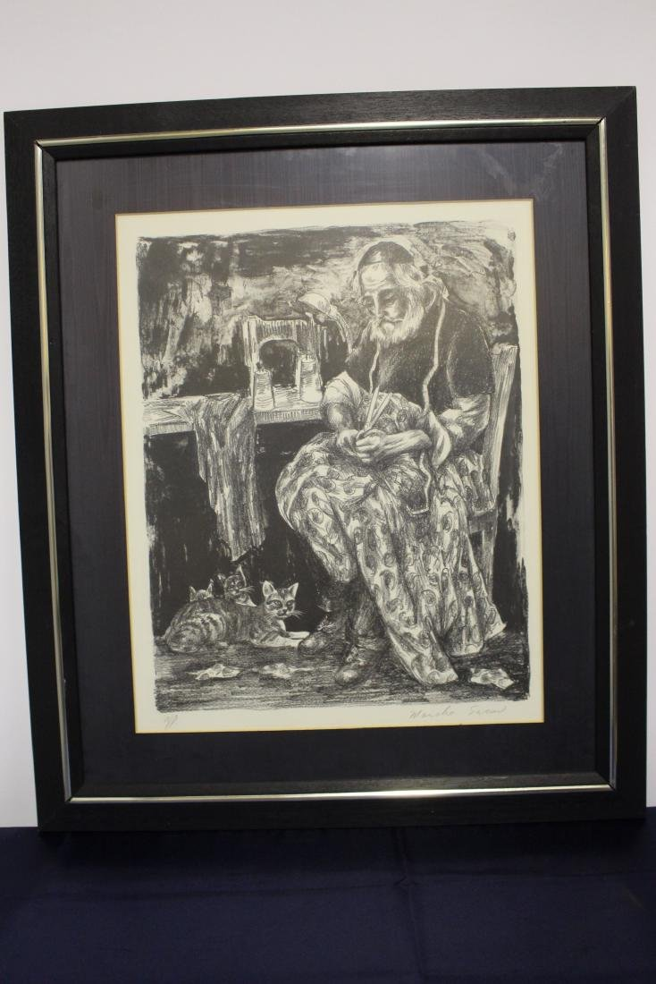 Limited Edition Lithograph by Moishe Sarcon
