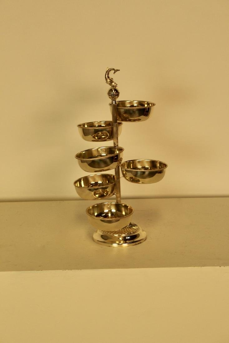 Revolving Silver Plate Serving Piece