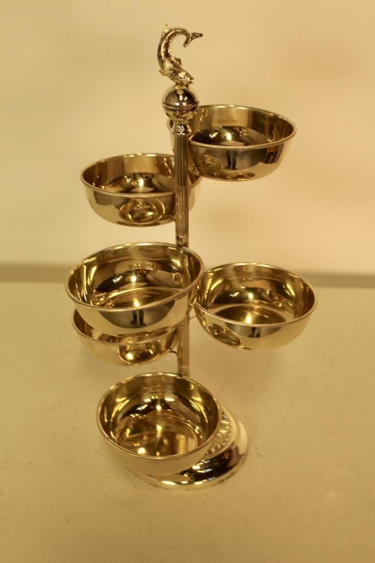 Revolving Silver Plate Serving Piece - 2