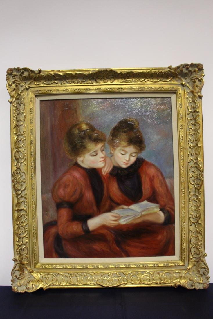 Richard Moore Oil Painting of Twin Sisters