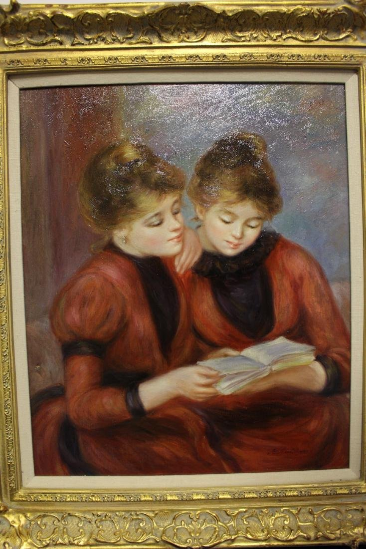 Richard Moore Oil Painting of Twin Sisters - 2