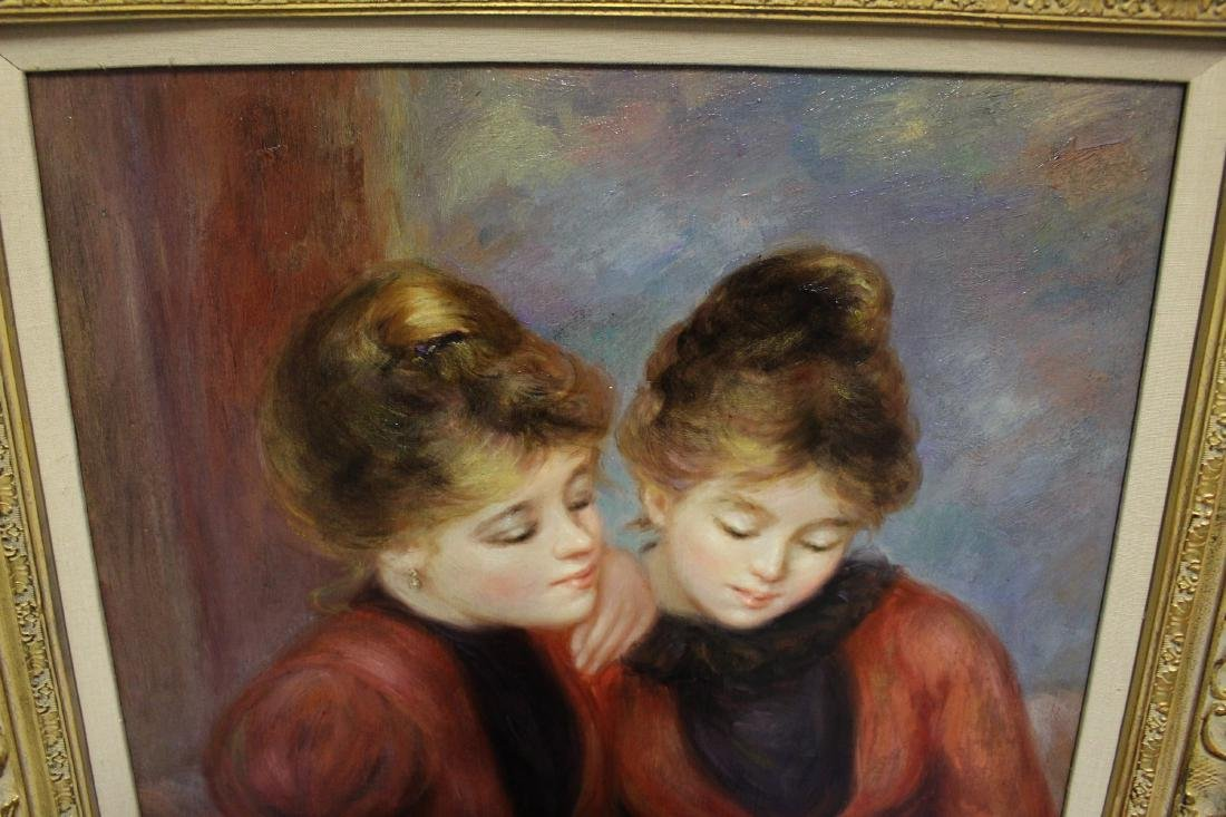 Richard Moore Oil Painting of Twin Sisters - 3