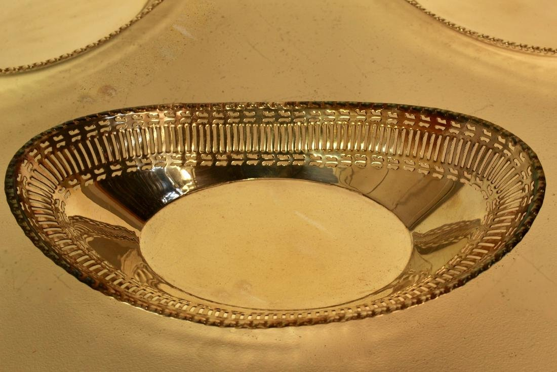 Three Matching Silver Plate Bread Baskets - 3