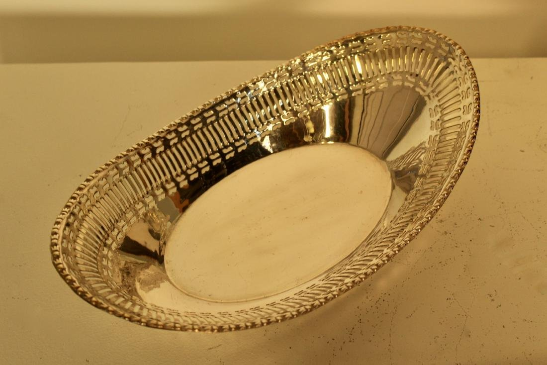 Three Matching Silver Plate Bread Baskets - 4