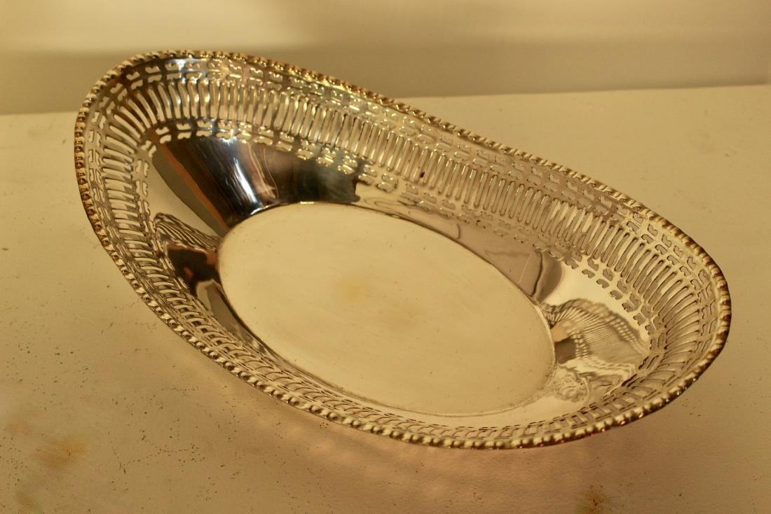 Three Matching Silver Plate Bread Baskets - 5