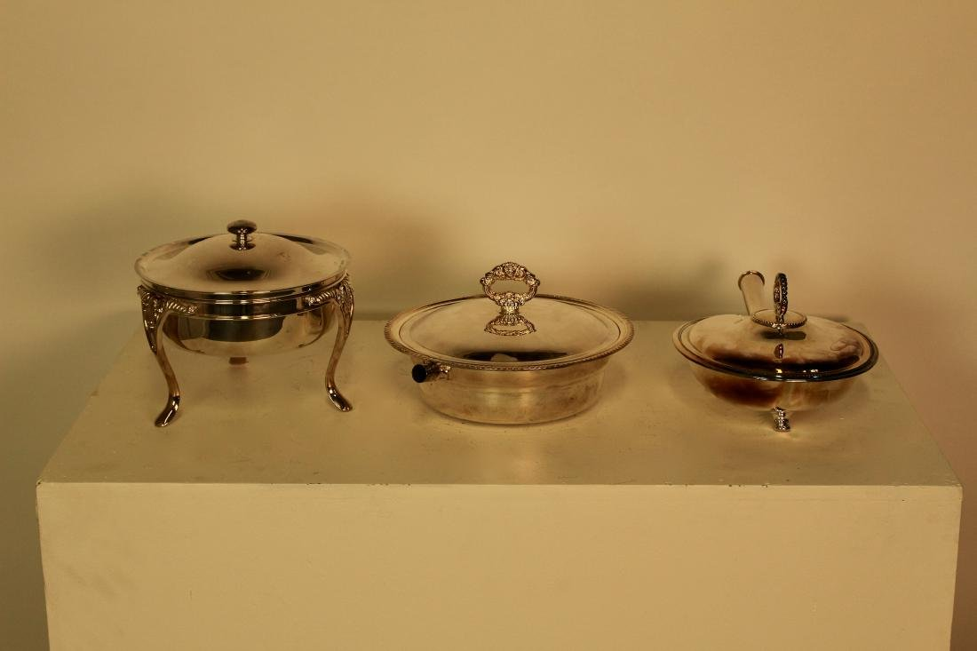 Three Toronto Silver Plate Covered Casserole Dishes