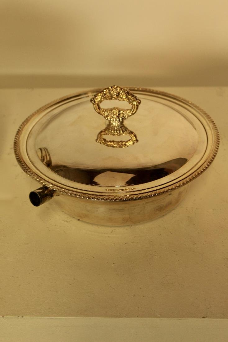 Three Toronto Silver Plate Covered Casserole Dishes - 3