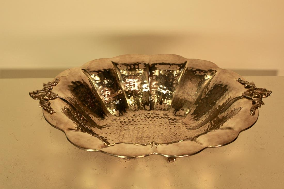 Exceptional Quality Large Hammered Finish Serving Dish - 2