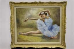 Fried Pal Mid Century Painting of Ballerina
