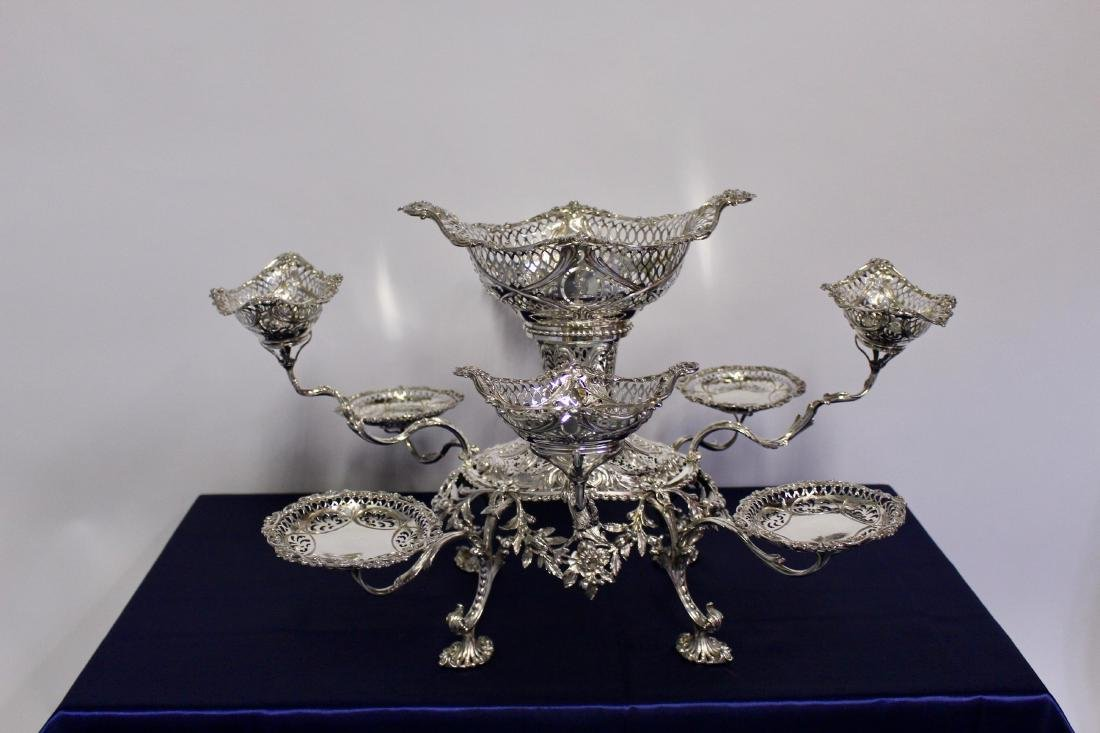 Thomas Pitts Sterling Silver  Royal Family Epergne - 2