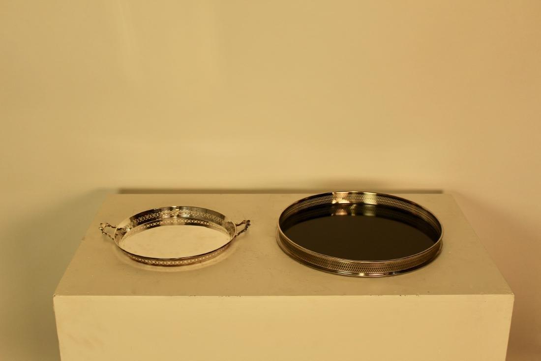 Two Silver Plate Pierced Trays