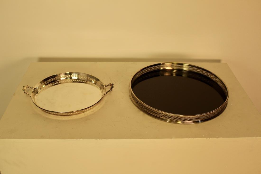 Two Silver Plate Pierced Trays - 2