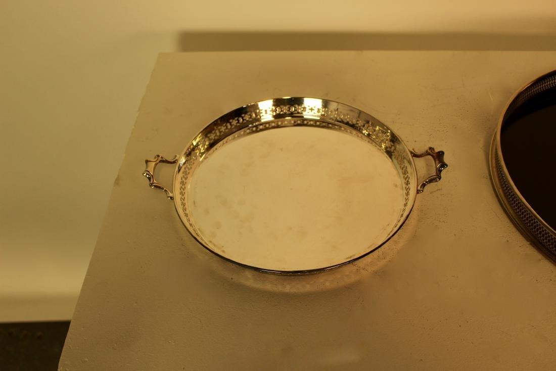 Two Silver Plate Pierced Trays - 3