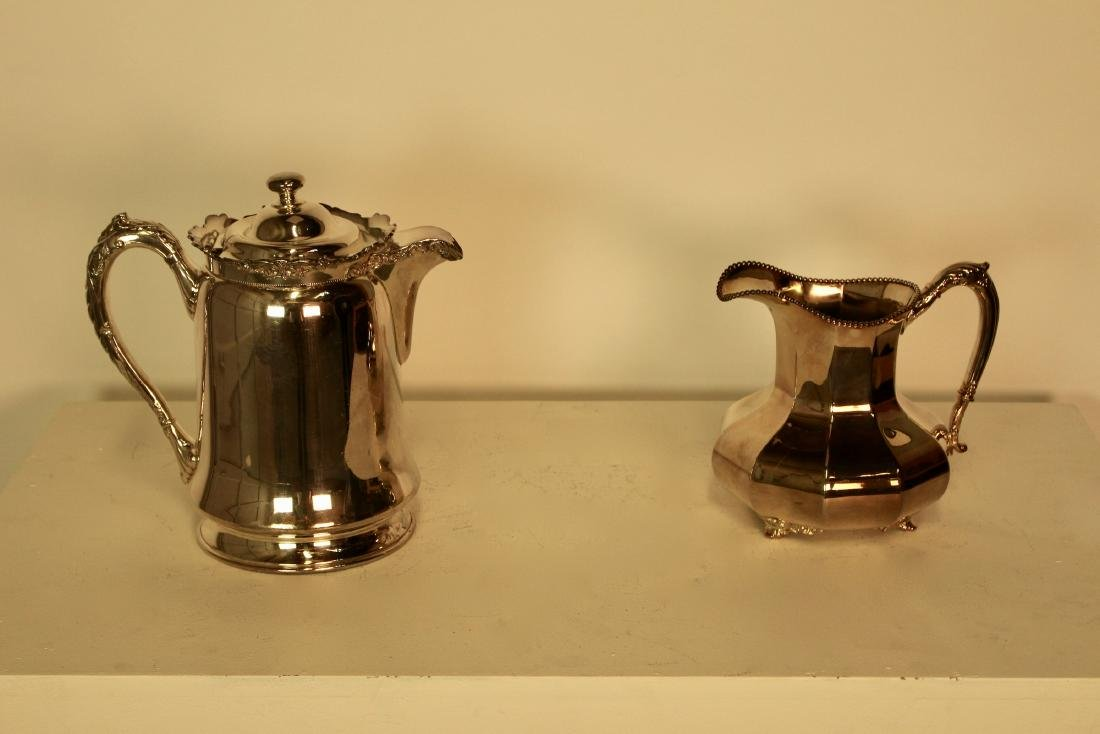 Two Reed & Barton Silver Plate Water Jugs