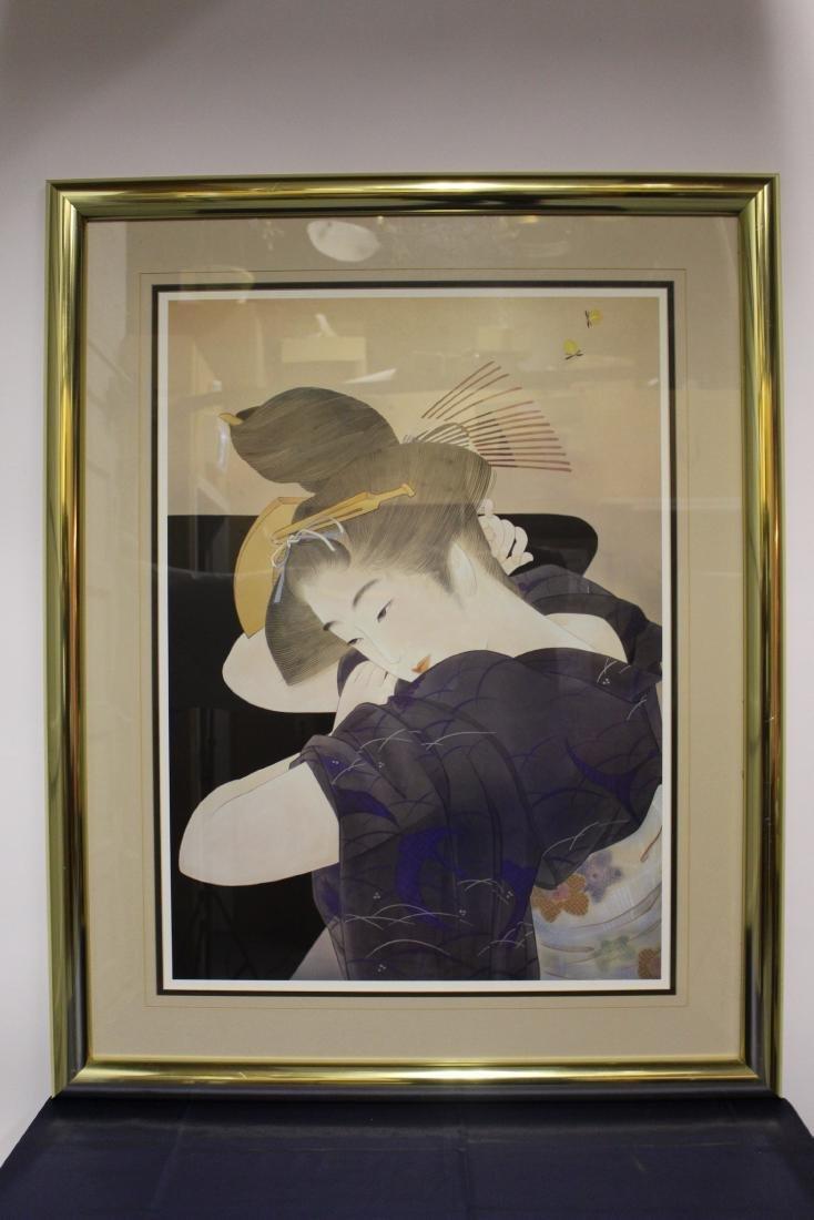 Large Painting of Geisha