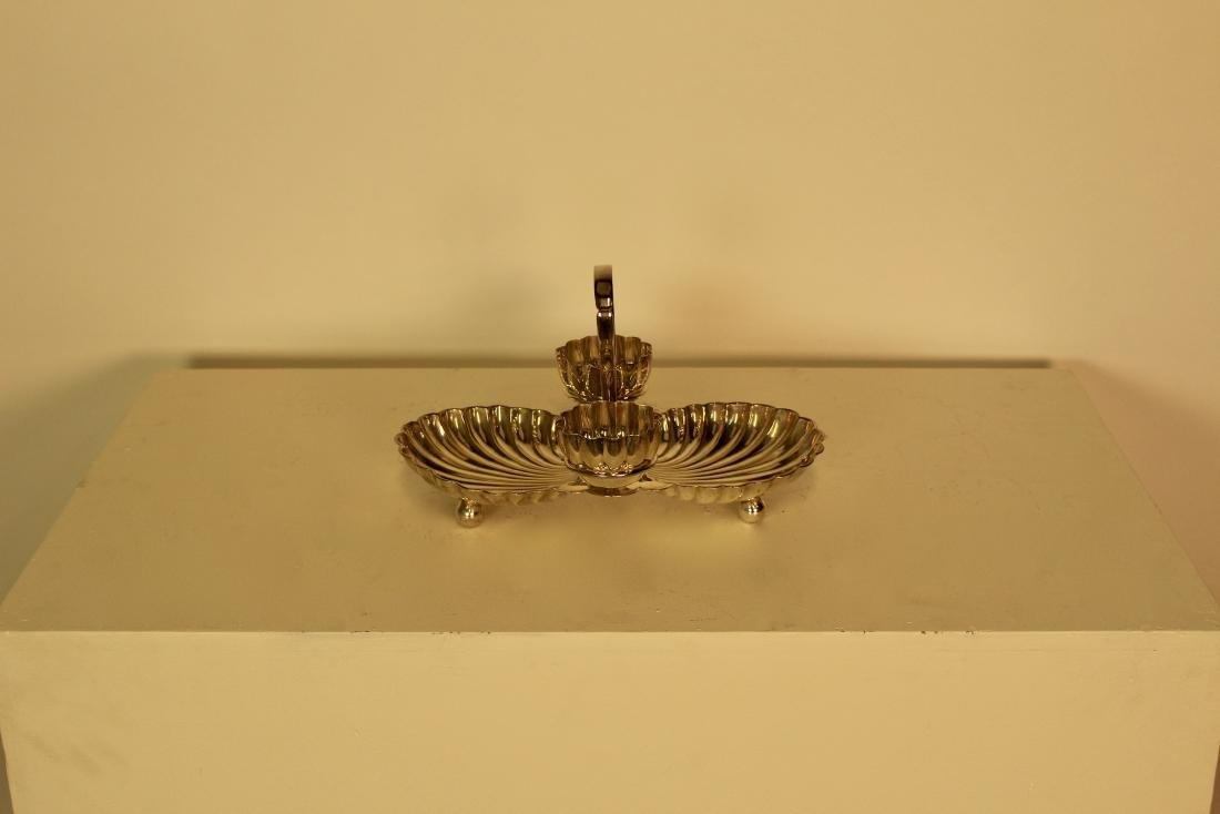 Silver Plate Shell Form Serving Dish