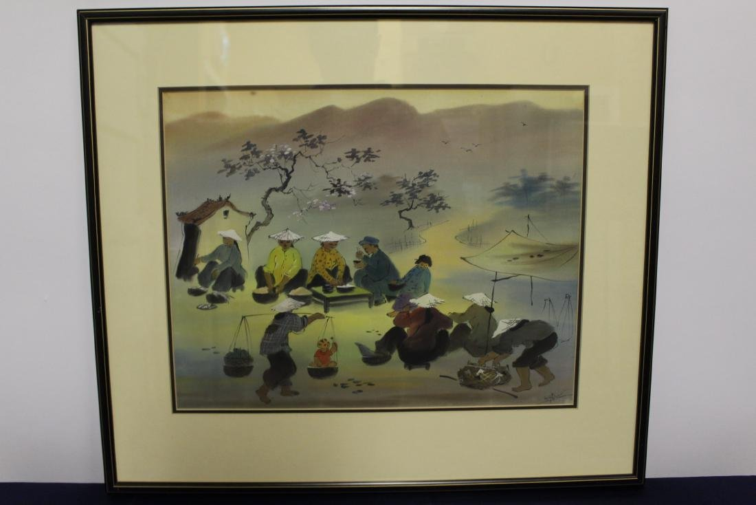 Chinese Painting of Villagers