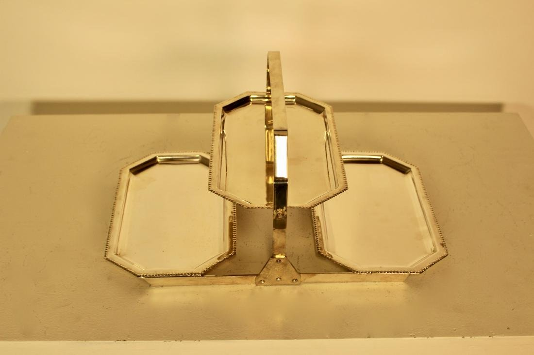Silver Plate Reticulated Server - 3