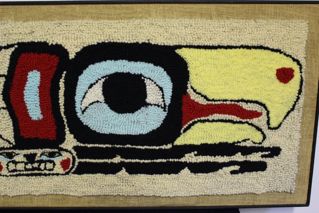 """Linda Wilson Framed Punch Rug """"Eagle Design"""" - 3"""